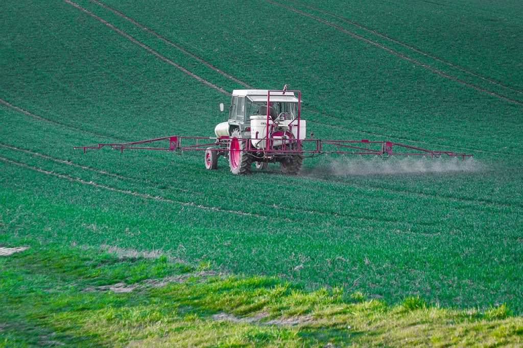 Farming pesticides. Pesticides for mayflies should be avoided.
