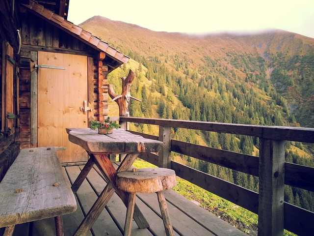 Front porch with a nice view.