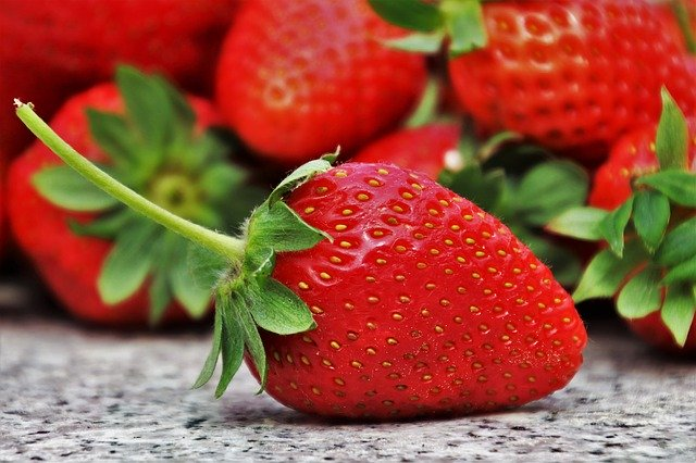 Strawberry pesticides keep bugs off.