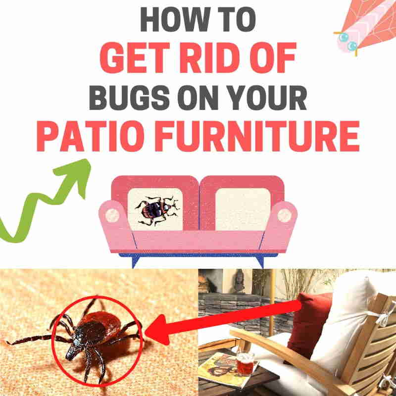 Keep bugs off patio furniture.