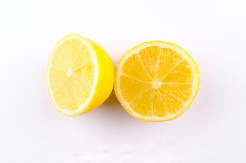 A fresh slice of Meyer lemons.
