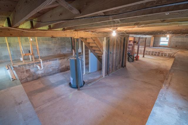 Clean basement pest free.